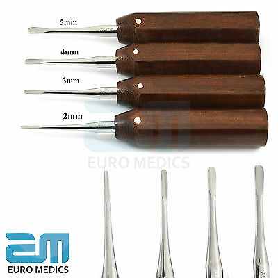 Dental Luxating Elevators Tooth Root Extraction Tools Wooden Handle Oral Surgery