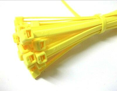 Cable ties. 200 x 4.8mm. Fluorescent. Yellow. Pack of 1000. *Top Quality!