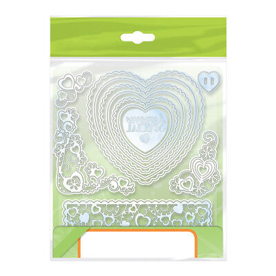 Heart Flower Frame Metal Cutting Dies For Scrapbooking Decor Embossing Crafts