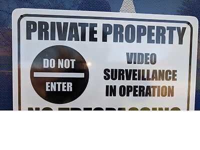 No Trespassing Private Property Pack 3 Metal Safety Sign 300x225mm FastDelivery