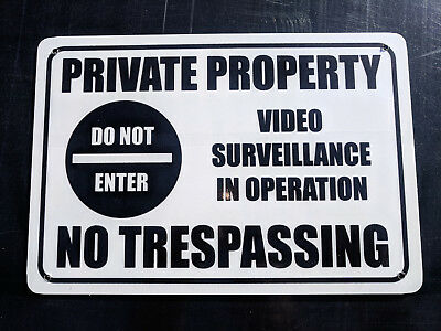 No Trespassing Private Property Metal Safety Sign 300x450mm FastDelivery