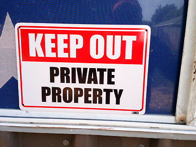 Keep Out Private Property Metal Safety Sign 300x450mm Fast Delivery