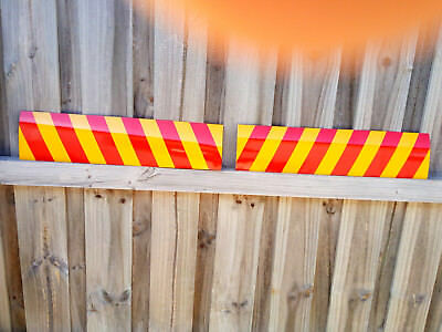 REFLECTIVE STICKER Stripe Traffic for TRUCK Sign 600x150mm Pack of 2 Fast Post