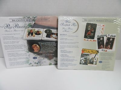 1 Set Creative Memories 7x7 White Refill Pages & Protectors NEW old Stock/SEALED