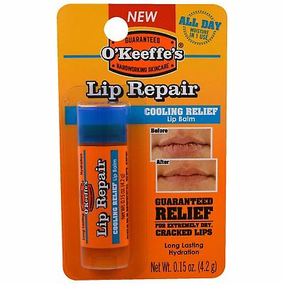 O'Keeffe's Lip Repair Chap Stick Relief Balm 4.2g - 1 2 3 6 12 Cases