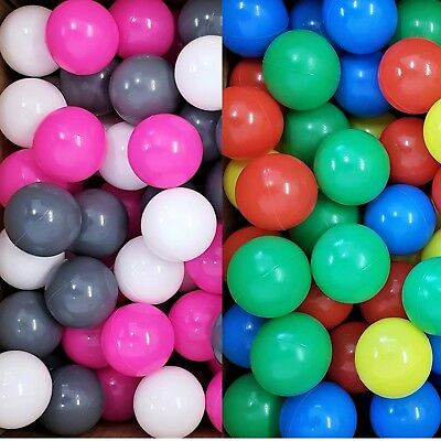 Childrens Plastic Play Balls for Ball Pits Pool Bouncy Toy Castle Multicoloured