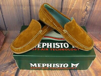 Mephisto Men s Shoes Loafers Tan Suede Algoras Casual Comfort France 8.5M 05bd7851777