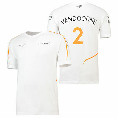 McLaren Official 2018 Stoffel Vandoorne T Shirt Tee Top Cotton Mens Fanatics