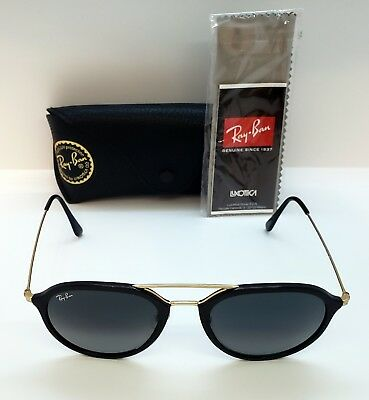 f0fd720fc9 AUTHENIC RAY BAN Sunglasses RB4253 601 53-21-145 BLACK GOLD ITALY ...