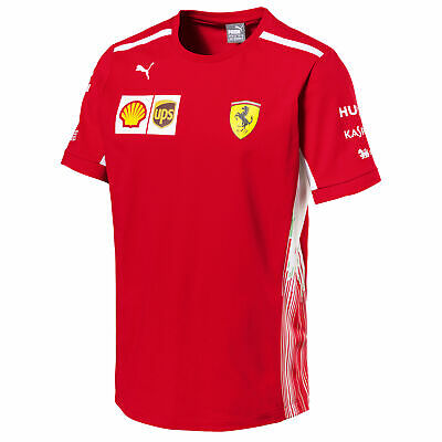 Scuderia Ferrari 2018 Team T Shirt Tee Top Round Neck Short Sleeve Mens PUMA
