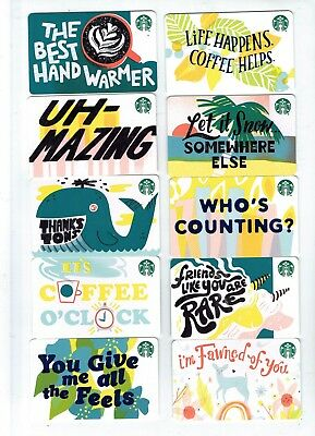 STARBUCKS Collectible Gift Card - YOU CHOOSE 3 Cards for $1.59 - Recycle 2019