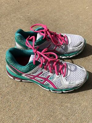low priced 0bae4 4416a Asics Gel Kayano 21 Fluid Fit Women s 8.5 Pink Teal White Running Shoes