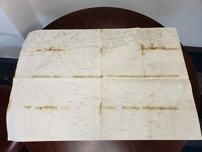 Civil War Map of Wilderness Battlefield area published prior to battle 4-23-1864