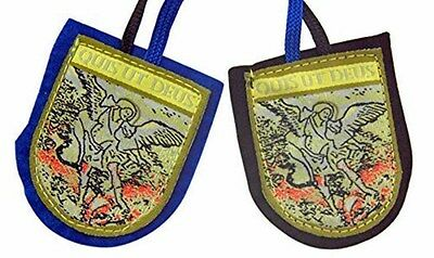 St. Michael the Archangel Scapular (HC620) NEW Heavy Quality BLUE & BLACK