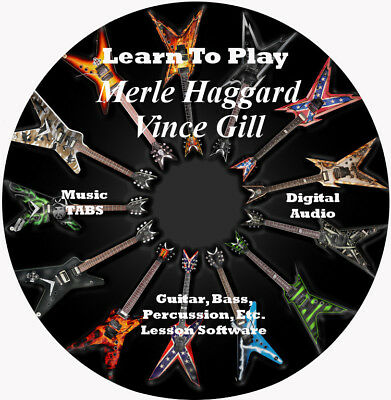 MERLE HAGGARD 309 Vince Gill 86 Guitar TABS Lesson CD 59