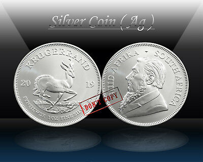 SOUTH AFRICA 1 RAND 2019 ( KRUGERRAND ) 1oz SILVER Coin (Ag 999/1000) UNC * NEW