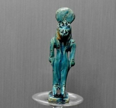 ANCIENT EGYPT EGYPTIAN ANTIQUE glazed faience SEKHMET (300-1500 )BC
