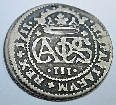 1711 Spanish Silver 2 Reales Piece of 8 Real 18th Century Two Bit Treasure Coin