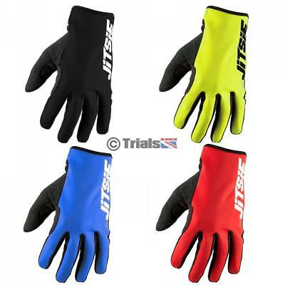 Jitsie GLOW Neoprene Cold Weather Riding Gloves Trials/Enduro/Offroad/MX/Cycling