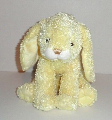 Stephan Baby Bunny Plush 12 Pastel Yellow Stuffed Animal Soft Toy