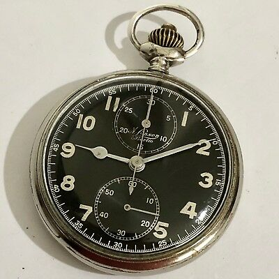 deae4395f Rare Antique A. Lunser Berlin German Military Wwii Chronograph Pocket Watch!