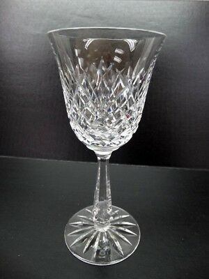 """Waterford Drogheda 7-5/8"""" Cut Crystal Tall Stem Water Goblet Glass"""