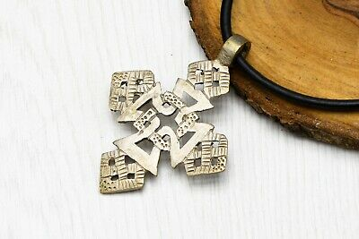 Large Cross silver Pendant Ethiopian Ancient Byzantine Style
