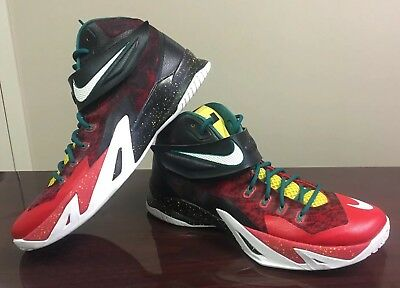 4664bfd2c0bd 2014 Nike Zoom Soldier VIII SZ 13 Lebron Christmas Black White Red 688579- 016