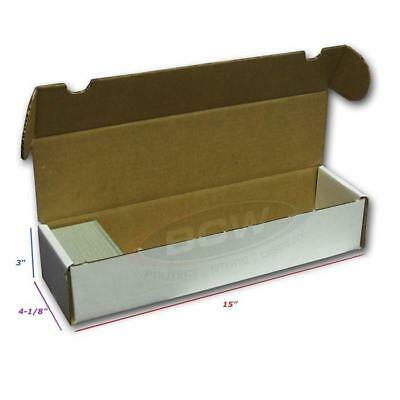 3 BCW 800 COUNT Corrugated Cardboard Storage Box - Sports/Trading/Gaming Cards