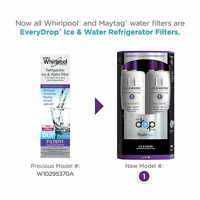 EveryDrop 💧 Water Filter 1 Replacement for W10295370A Whirlpool (2 Pack) *NEW*