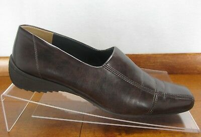 e5ddf495afc Paul Green Dark Brown Leather Munchen Loafer Slip On Flats Womens Size 7.5  Shoes