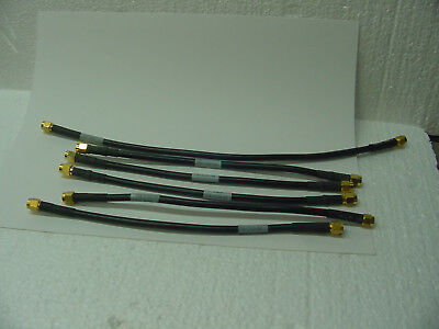 Tektronix Five 174-1120-00 One 174-1364-00 SMA Male to SMA Male Test Cables