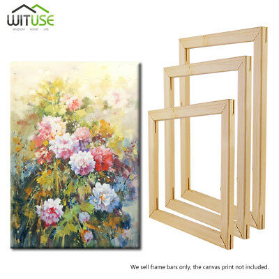 Professional Wood Canvas Stretcher Frame Bars Strip For Gallery Wall Art 20-60cm
