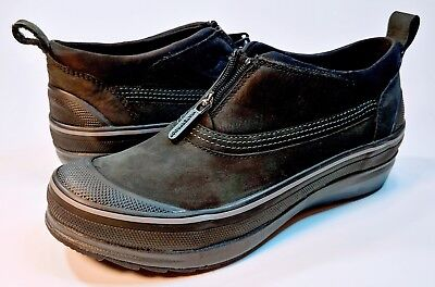 d9c691547e6 Clarks Muckers Ridge Leather All Weather Ankle Shoes Booties Black Womens  7M NEW