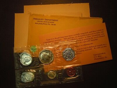 1964 US Mint Silver Proof Set, Accented Hair Kennedy Half Dollar, 3 Silver Coins