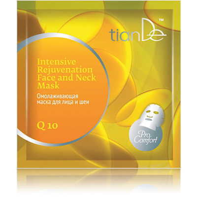 TianDe Q10 Intensive Rejuvenating Face and Neck Mask 52903