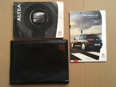 Seat ALTEA 04-09 Owners Manual Handbook 1.4 1.9 2.0 TDi Diesel Reference