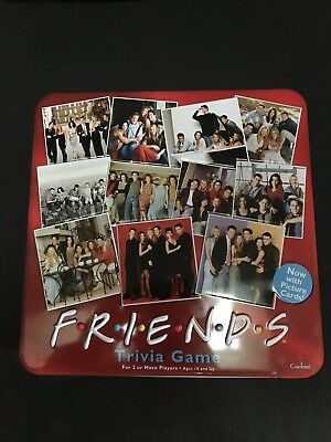 Friends Trivia Board Game Collectible Red Tin 2003 Missing Picture Cards NIP
