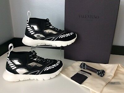 289ace86003a5 Valentino NEW Rock Stud Sneakers Trainers Size 40 Uk 7 Unisex RRP £685 Black