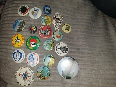 Joblot Of Vintage Badges Interesting 20 in total All Different collection old