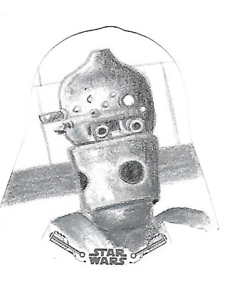 2019 Topps Star Wars Black & White Die-Cut Sketch Card Oscar Chavez IG-88 1/1
