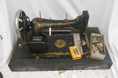 Vintage Rare ELECTRIC Sewing Machine by SEW-TRIC in CASE Shabby Chic 1930s
