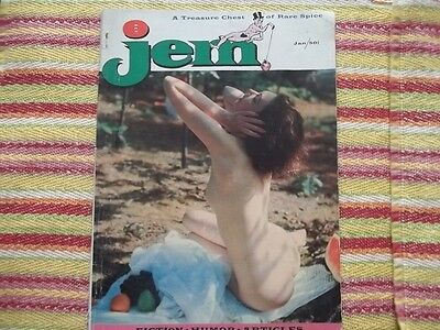 "Hard to find Vintage girlie magazine ""Jem"" Jan 1957 feature on ZSA ZSA Gabor"