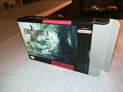 Final Fantasy IV Box Only, SNES Super Nintendo Replacement Art Case/Box