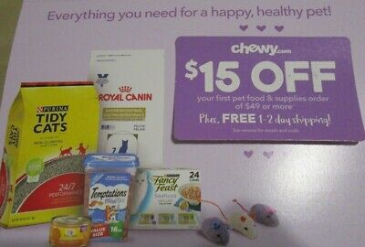 $15 off coupon chewy.com your first order of $49  Expires 3/31/19  Fast Delivery