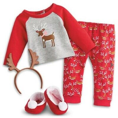 American Girl Doll Truly Me Festive Reindeer PJs for 18 Inch Dolls Holiday New