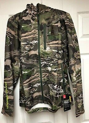 9bd6d762d6dcc Under Armour UA Early Season Ridge Reaper Forest Hooded Camo Jacket Mens  Medium