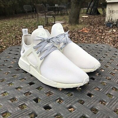 new style 97dc4 7be8e Adidas NMD XR1 Triple White Footlocker Europe Exclusive BY3052 Size 11