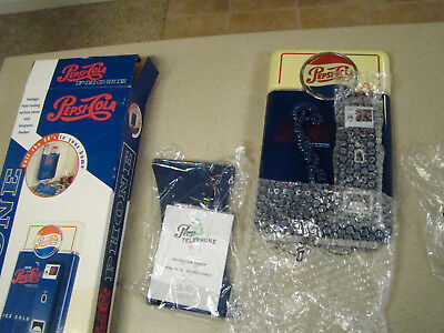 VINTAGE 1995 PEPSI COLA Blue Vending Machine Phone Wall Mount OR Free Stand