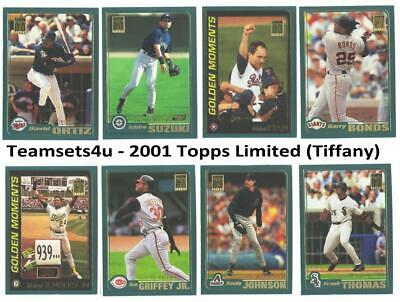 2001 Topps Limited (Tiffany) Baseball Team Sets ** Pick Your Team Set **